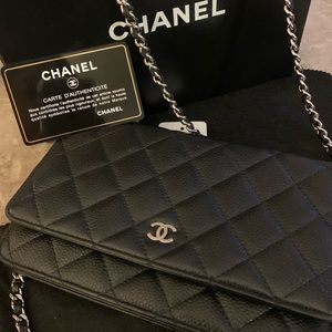 Chanel Wallet on Chain Silver Hardware